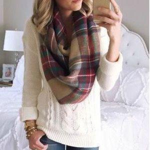 Merona}• cable knit cream sweater